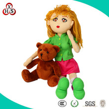OEM Fashion plush doll, Popular woman and dog