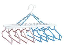 Wholesale Cheap Multifunction Plastic Clothes hangers 8 hangers