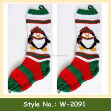 W-2091 cheap custom crochet pattern wholesale bulk christmas stockings