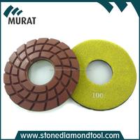 Velcro Backed Sprial Type Diamond Resin Floor Polishing Pads for Concrete