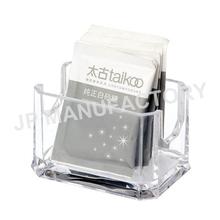Wholesale Crystal clear tea bag holder / Sugar bag container / salt bag box
