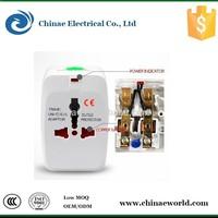 Universal travel multi-plug adapter, multi-use USB adapter, UK/USA/AU/EU type plug ac universal adapter