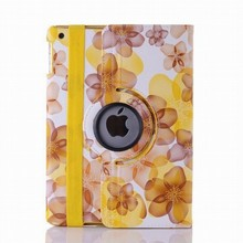 Lucky Flower pattern 360 Degree Rotating case for iPad 4 /3/2,for iPad Multi-Angle Stand Smart Cover