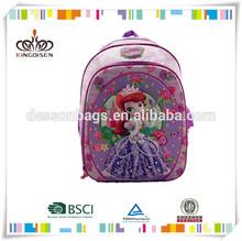 la princesa sarah satinado de impresión de eva bolso de escuela infantil para los adolescentes