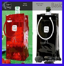 Factory Direct Sale Cheap Clear PVC Ice Bag For Cooling Wine, Quality PVC Ice Bag