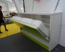 Modern design horizontal solid folding wall bed with office table
