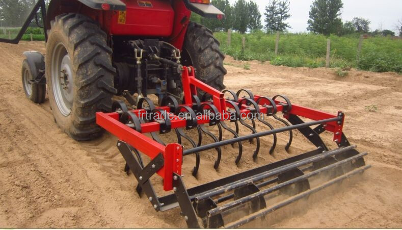 Compact Tractor Spring Tines Cultivator With Crumbler