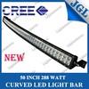 High lumen led light bar 50inch led light bars Curved 288w 4x4 offroad curved led light bars for all cars
