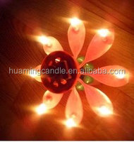 high quality Flower Shape Musical Birthday Candles (HUAMING manufacturer)