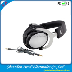 High quality headphone driver built in silver headphone over ear headphone leather