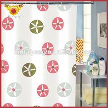 Niza diseño de baño Peva plástico árabe cortina de la oficina