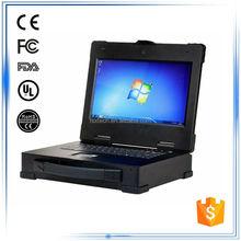 """14""""i5 CPU 4G RAM SSD120G 2PCI slot 2LAN 4USB 1DVI 1COM fully rugged convertible laptop"""