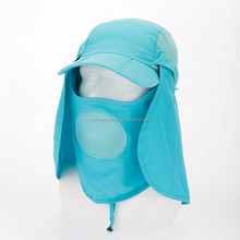 Dry fast baseball cap with face mask/neck guard for outdoor walking/climbing
