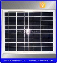 A grade 12V poly solar panel 10w with aluminum frame