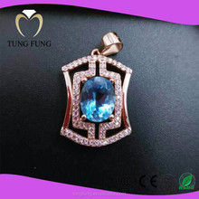 Fashion Jewelry Wholesle 925 Sterling Silver Topaz Pendants