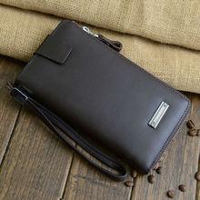 wholesale Men's genuine leather wallet Long handbags