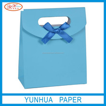 Colour printing cheap foldable paper shopping bag for sales