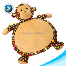 Wholesale monkey plush toy cheap foldable baby play mat soft animal toy gym korea play mat
