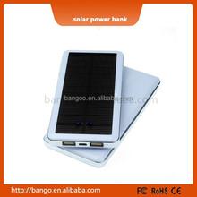 2015 high capacity dual USB 10000mah universal solar power bank for all mobile phone