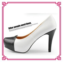 Brand New and High Quality Women Black+White Platform Pumps Girls High Heel Shoe Ladies Office Wearing High Heels Platform Pumps
