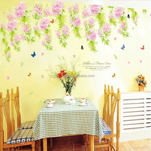 200*100cm Free Shipping Lilac Flower Bloom Wall Stickers Removable Living Room Sofa Background Decor decoration XY1108