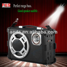 Powered PA Speaker with USB/SD/LCD/Folder search car speaker