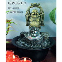 Mini Indoor Fountains Laughing Buddha Water Fountain Cheap
