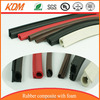 Dense rubber extrusion/Spong foam rubber extrusion for wood door