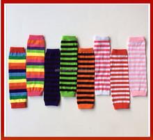 Wholesale Colorful Christmas Baby Leg Warmers/Cotton Warm Baby leggings Wholesale Striped Cotton Leg Warmers