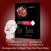Natural herbal collagen for significant whitening efficacy with pomegranate collagen face and neck mask