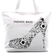 New Fashion Handbags Personalized High Heels Printing Tote Bag For Ladies