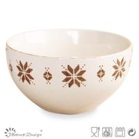 stoneware bowl/silk screen print/two tone/hot selling/2015 new design