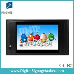 """FlintStone motion activated 10"""" vending machine lcd advertising screen"""