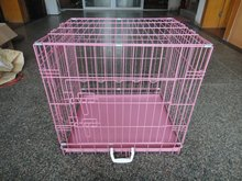 color metal dog cage /dog products