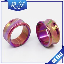 Acrylic Cool Flesh Ear Plugs Splatter Ear Gauges Piercing Custom Plug Tunnel Body Jewelry