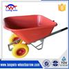two pneumatic wheel garden wheelbarrow