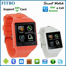 Ultrathin Multimedia GSM SMS Video 240X240 pixel FITBO watch phone android dual sim