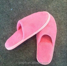 pink high quality terry closed toe hotel slippers
