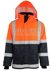 TecronSafety FR Rainwear / Insulated FR Antistatic Rain Coat / EN343 / EN471 / EN1149