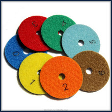 "best sales 30#-3000# 3""-8"" diamond wet polishing pad for granite , marble , concrete"