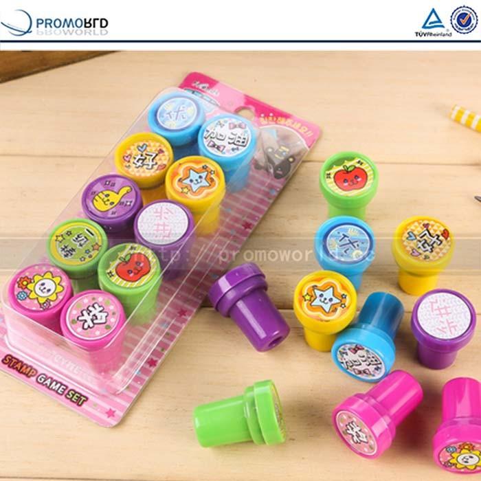 Presente das crianças promocionais tinta carimbo de bolso personalizado