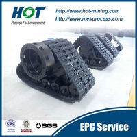 Brand new rubber tracks for snow vehicle