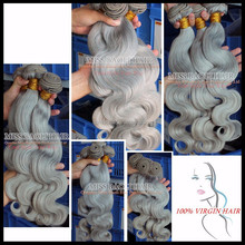 Alibaba Trade Assurance Paypal Accepted Soft Smooth European Hair Gray Hair Weave