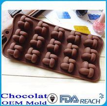Mfg vários forma silicone chocolate moldes nomes de utensílios de cozinha food grade silicone chocolate mold
