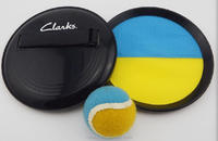 high qulity and popular funny plastic throw beach velcro catch ball game set
