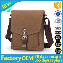hot sell leather canvas sling bag new design canvas sling bag Fashion Vintage canvas sling bag