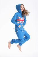 New arrival onesie jumpsuit one piece jump in suit zipped hoodie adult onesies