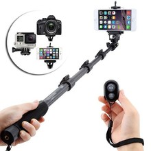 YUNTENG 188, 2 in 1 Kit Selfie Stick Yunteng Monopod+ Phone Holder Clip for iPhone Max Length: 1.23m