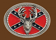 2015 new products fashion deer head animal shaped american flag belt buckle
