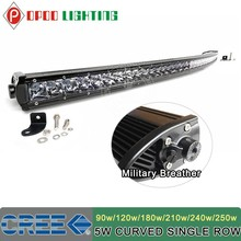 52 inch curved led light bar, C.REE curved 250W 52 inch curved led light bar